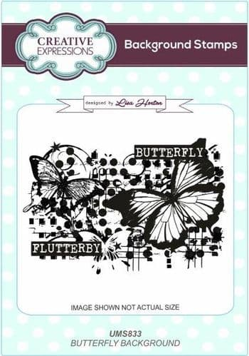 Creative Expressions - Lisa Horton - Butterfly Background Stamp - UMS833