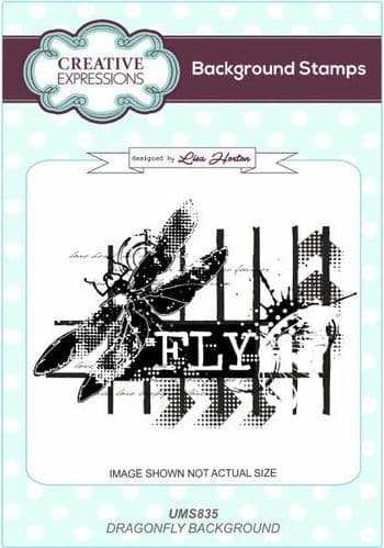 Creative Expressions - Lisa Horton - Dragonfly Background Stamp - UMS835