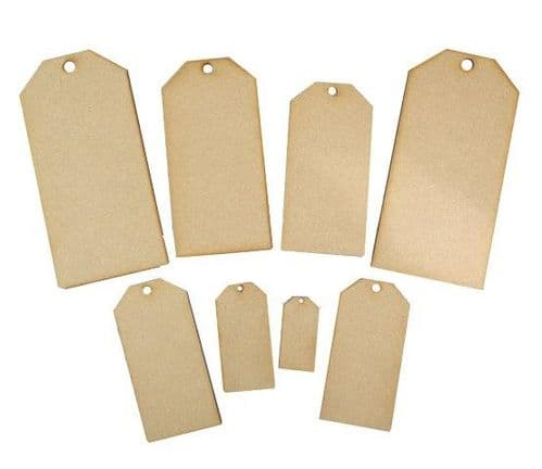 Creative Expressions - MDF Mixed Tags - 8pk