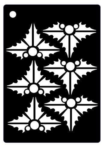 Creative Expressions Mini Stencil - Contemporary Holly - CEMSHOLLY