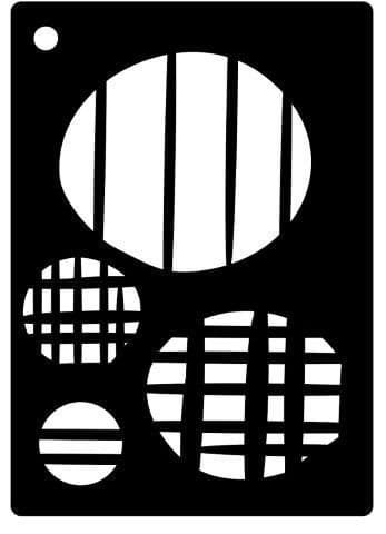 Creative Expressions Mini Stencil - Etched Ovals - CEMSEOVAL