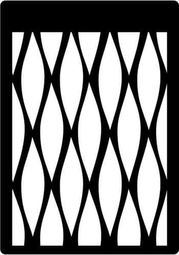 Creative Expressions Mini Stencil - Waves - CEMSWAVE