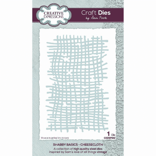 Creative Expressions Sam Poole Craft Die - Shabby Basics Cheesecloth