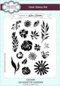Creative Expressions - Silhouette Garden A5 Clear Stamp Set - CEC849