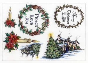 Creative Expressions Umount - Christmas Day - A5 Unmounted Stamp Plate - UMCHRISDAY
