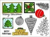 Creative Expressions Umount - Christmas Decorations - A5 Unmounted Stamp Plate - UMDECOR