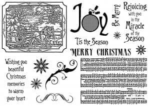 Creative Expressions Umount - Christmas Sleigh Ride - A5 Unmounted Stamp Plate - UMCHRISSLEIGH