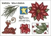 Creative Expressions Umount - Traditional Christmas 3 – A5 Unmounted Stamp Plate  - UMTRAD3