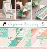 DCWV 12x12 Paper Stack - Copper Luxury