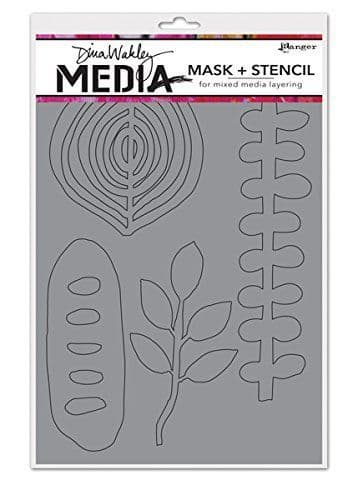 Dina Wakley Media Mask + Stencil - Organic Shapes - MDS45618