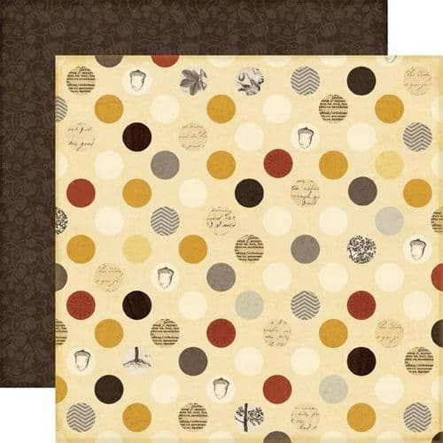 Echo Park - Reflections Fall - Fall Dots 12x12 Cardstock