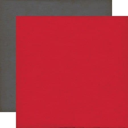 Echo Park - Yours Truly - Red/Grey 12x12 Cardstock