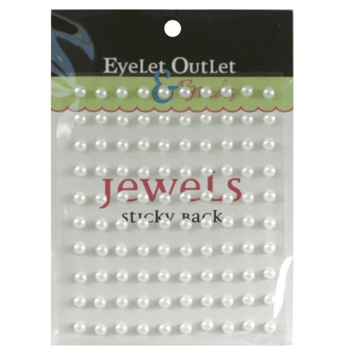Eyelet Outlet Adhesive Pearls - 5mm - White