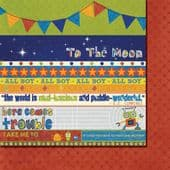 Fancy Pants - To The Moon - Strips 12x12 Paper