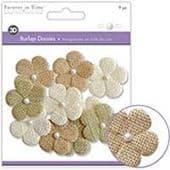Forever in Time - Burlap Daisies - Natural 41mm - MFE148B
