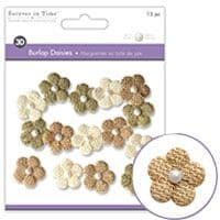 Forever in Time - Burlap Daisies – Sahara - Small 21mm - MFE146B