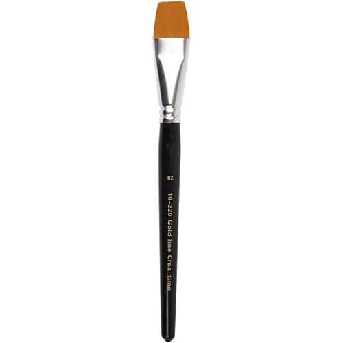Gold Line Brush - Flat - Size 20