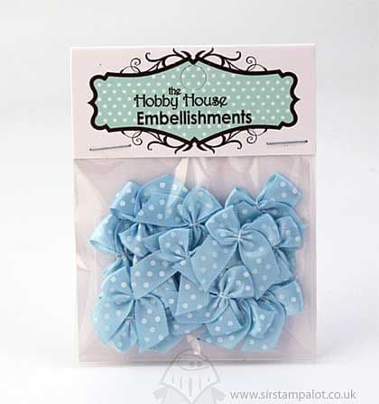 Hobby House - Blue Polka Dot Bows - HHBOW014