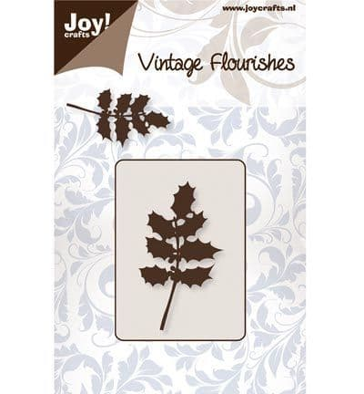 Joy Crafts Cutting & Embossing - Vintage Flourishes - Holly Leaves - 6003/0060