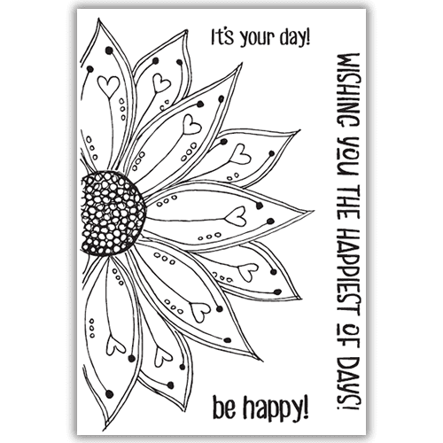Julie Hickey Designs Stamp Set - Be Happy