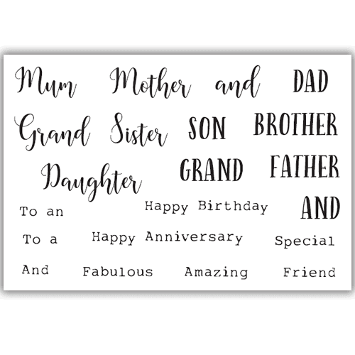 Julie Hickey Designs Stamp Set - Family Sentiments