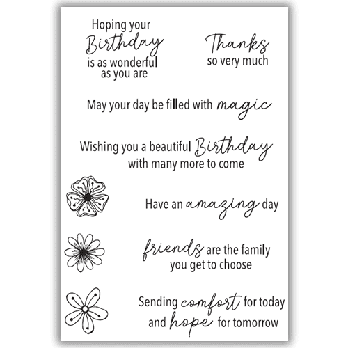 Julie Hickey Designs Stamp Set - Positive Wishes