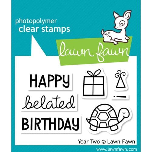 """Lawn Fawn 2x3"""" Clear Stamp Set - Year Two"""