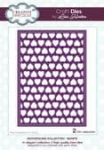 Lisa Horton Craft Dies - Background Collection - Hearts - CEDLH1072