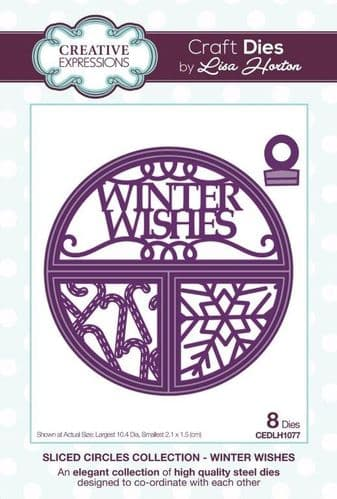 Lisa Horton Craft Dies - Sliced CirclesCollection - Winter Wishes -CEDLH1077