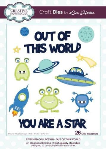 Lisa Horton Craft Dies - Stitched Collection -Out Of This World - CEDLH1015