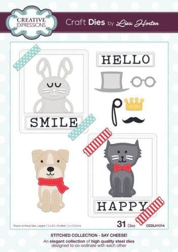 Lisa Horton Craft Dies - StitchedCollection - Say Cheese – CEDLH1014