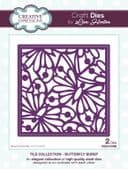 Lisa Horton Craft Dies - Tile Collection - Butterfly Burst - CEDLH1068