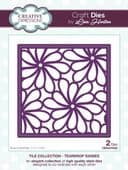 Lisa Horton Craft Dies - Tile Collection - Teardrop Daisies - CEDLH1052