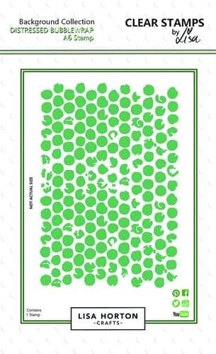 Lisa Horton Crafts Background Stamp - Distressed Bubble Wrap