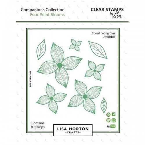 Lisa Horton Crafts Companions Stamp - Four Point Blooms