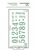 Lisa Horton Crafts Companions Stamp - Polka Dot Numbers