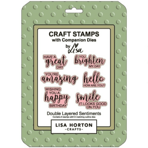 Lisa Horton Crafts - Craft Stamps with Companion Dies - Double Layered Sentiments