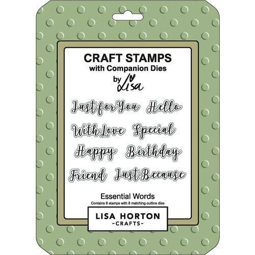 Lisa Horton Crafts - Craft Stamps with Companion Dies - Essential Words
