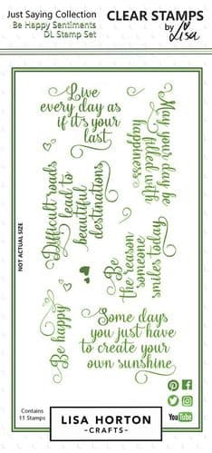 Lisa Horton Crafts - Just Saying Collection - Be Happy Stamp Set
