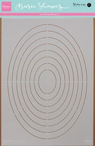 Marianne Stencil - Karin's Basic Shapes Ovals - PS8008