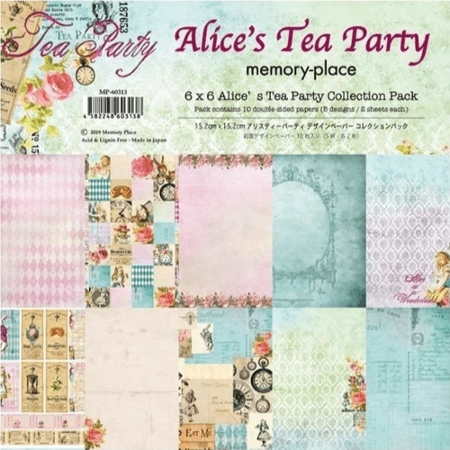Memory Place 6x6 Paper Pack - Alice's Tea Party