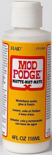 Mod Podge - Waterbase sealer, glue & finish - Matte 4 Oz