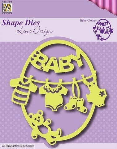 Nellie's Choice Shape Dies - Baby Clothes - SDL012