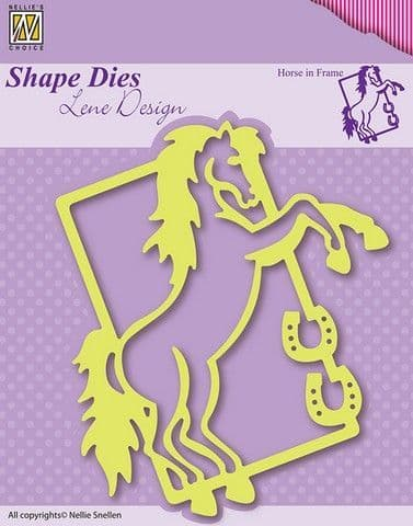 Nellie's Choice Shape Dies - Horse in Frame – SDL004