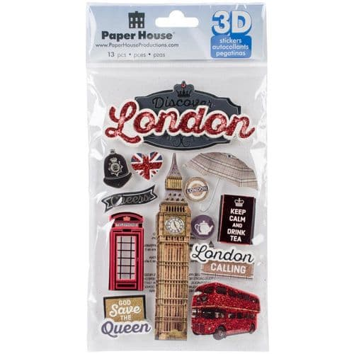 Paper House 3D Stickers - Discover London