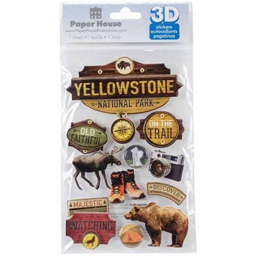 Paper House 3D Stickers - Yellowstone