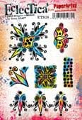 PaperArtsy Eclectica E³ Mounted Rubber Stamp Set - Tracy Scott 38 – ETS38