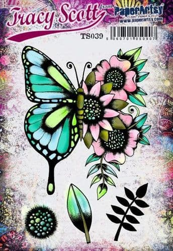 PaperArtsy Eclectica E³ Mounted Rubber Stamp Set - Tracy Scott 39 – TS039