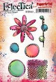 PaperArtsy Eclectica E³ Mounted Rubber Stamp Set - Tracy Scott 42 – ETS42