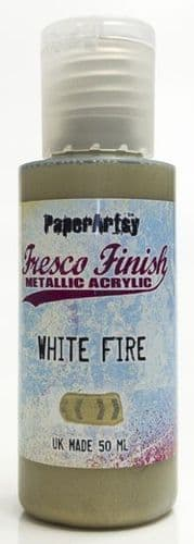 Paperartsy Fresco Finish Metallic White Fire